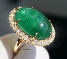 Emerald Ring Gold Diamond 14K Natural 20.0CTW GIA Certified RETAIL $16.900