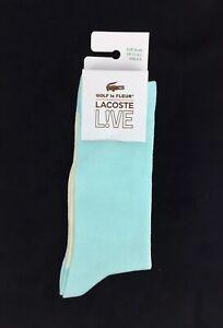 NEW Lacoste x Golf Le Fleur Live Crew Socks Blue Geode White Mens Size 6-9 Tyler