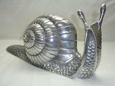 Vtg Metal Conch Snail Sculpture Home Garden Patio Yard Decor Mcm Art Deco Statue