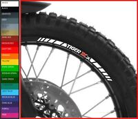 8 x Triumph Tiger XCx Wheel Rim Decals Stickers - 20 colors available - 800 1200