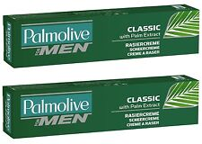 (32,70�'�/L) 2x 100 ml Palmolive Rasiercreme for Men Classic Shave Cream **NEW