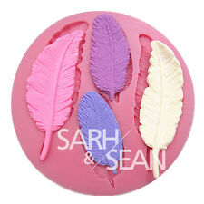 M0281 feather collection fondant cake molds soap chocolate mould