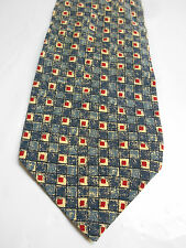 Country Road Blue Cream and Red Check Print Silk Necktie Made in Italy