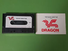The Black Sanctum Dragon 32 Game - Dragon Data (Cassette & Instructions Only)