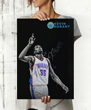 Kevin Durant NBA Autographed Poster Print. A3 A2 A1 Sizes