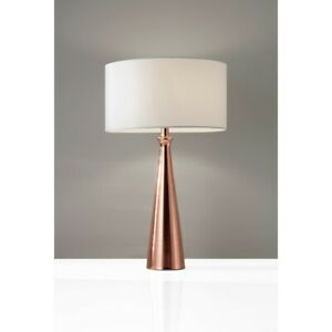 Adesso Linda Table Lamp, Brushed Copper - 1517-20