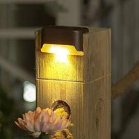 12X LED Clôture Solaire Lumières Mur Étape Escaliers Lumière Chemin Lampe Jar LB