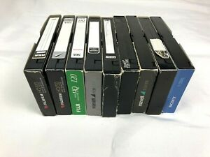 Lot Of 9 Used VHS Tapes SOLD AS BLANKS Prince Music Commercials Boomerang News