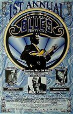 1993 1St Annual Santa Cruz Blues Festival Music Poster, Aptos, Calif.
