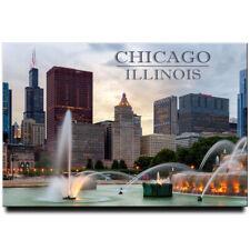 Chicago fridge magnet Illinois travel souvenir Buckingham Fountain