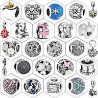 NEW 925 European Sterling Cz Silver Charm Beads for Charms Bracelet Necklace