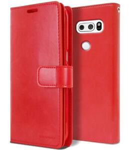 For LG V50V40 V30 V20 G8 Case Leather Wallet Card Holder Flip Dual Cover Holster