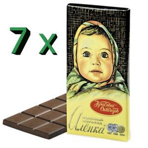 Roter Oktober Tafelschokolade Alenka 7er Pack (7 x 90g) Russische Schokolade