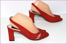 VALENTINO COLLECTION Escarpins Vintage Tout Cuir Rouge Foncé T 40 BE