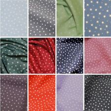 100% Cotton Poplin Fabric Rose & Hubble 3mm Stars & Spots