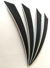 "50pcs 5"" Archery Turkey Feather Arrow Fletching Shield Right Black Pheasant Wing"