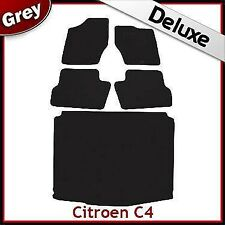 Citroen C4 Mk1 2004-2010 Tailored Carpet Car & Boot Mats GREY