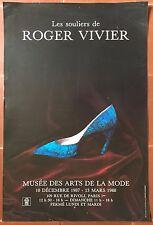 Affiche Exposition LES SOULIERS DE ROGER VIVIER Musée des Arts et de la Mode *