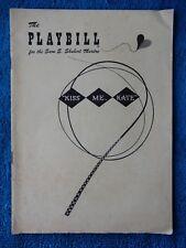 Kiss Me, Kate - Sam S. Shubert Theatre Playbill - December 25th, 1950 - Jeffreys