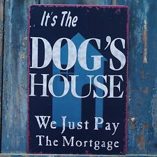 Collectibles DOG'S HOUSE Vintage Metal Tin Signs Home Pet Store Wall Decor