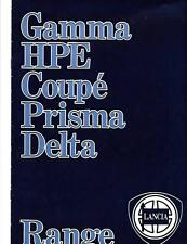 LANCIA  GAMMA, HPE, COUPE , PRISMA AND DELTA SALES BROCHURE MID 80's?