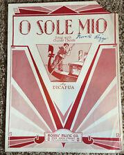 """[COL] """"O Sole Mio"""" Vintage Sheet Music 1916 Eduardo Di Capua (Dicapua & Potter)"""