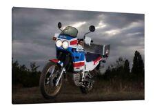 Classic Honda Africa Twin CRF1000L  30x20 Inch Canvas Framed Picture Paris Dakar