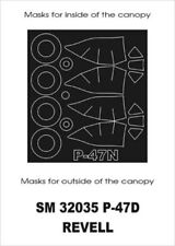 Montex Mini Mask 1:32 P-47 D for Revell Kit Spraying Stencil #SM32035