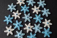 12  edible snowflake cake toppers. Edible snowflakes cupcake topper