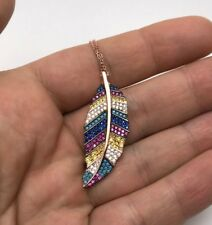 Turkish Jewelry Leaf Motif 925K Sterling Silver Women's Necklace