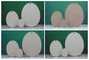 Wooden Egg shapes MDF or birch plywood Easter egg craft blanks and cutouts