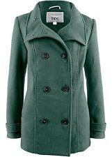 Cabanjacke mit Stehkragen Gr. 46 Russisch Grün Damenjacke Mantel Coat Neu*