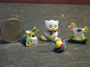 Dollhouse Miniature Baby Toys Set of 4 1:12 one inch scale D10 Dollys Gallery