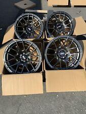 15X8.25 +0mm  XXR 530 4x100/114.3  Chromium Black Rims (Used Set)