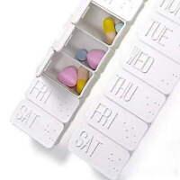 7 Tage Pillenbox Pillendose Tablettenbox Medikamenten Lagerung L0Z1
