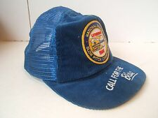 VTG 1986 Slow Pitch Labatt Blue Beer Corduroy Mesh Snapback Cap Baseball Hat