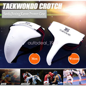 Groin Guard Boxing Taekwondo Karate Sanda Training Protect Gear Children Adults