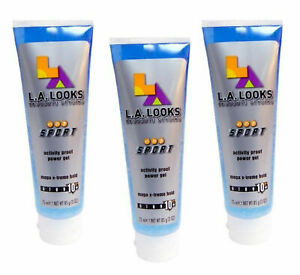 ( LOT 3 ) L.A. LOOKS Absolute Styling Activity Proof Power Gel Extreme Hold 3 oz