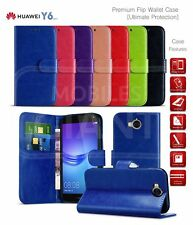 Case For Huawei Y6 (2017) MYA-L11 Premium Leather Wallet Card Storage Book Cover