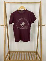 VTG 80s NC Central University Polo Club 50/50 Thin Short Sleeve T-Shirt Sz M USA