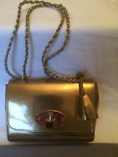MULBERRY LILY MIRROR METALLIC LEATHER GOLD BAG.BRAND NEW WITH TAGS AND DUST BAG.