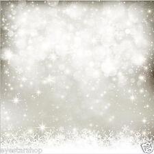 10x10FT Xmas Snow Vinyl Photography Background Backdrop Studio Photo Props SD453