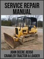John Deere JD350 Crawler Tractor & Loader Service Repair Manual SM2063 USB