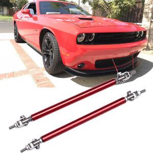 Bumper Lip Splitter Strut Rod Support Bar For Dodge Charger Challenger RT SRT