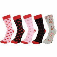 Ankle Socks With Red Hearts (Size: 4-7)