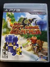 3D Dot Game Heroes (Sony PlayStation 3, 2010) Game, case and manual