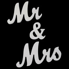 Large Wooden Mr and Mrs Letters Sign Standing Top Table Wedding Venue Decor Nice