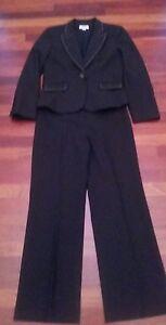 Ann Taylor LOFT Women's 100% Worsted Wool Jacket Pants Suit 4P