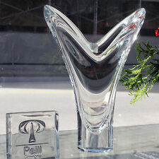 """AKAZIE Vase 10"""" tall Lead Crystal NEW NEVER USED #28770 made in Germany PEILL"""