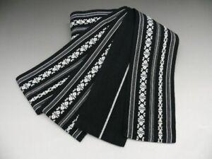 Men's Black Cotton Japanese KAKU OBI w/KENJOGARA K525